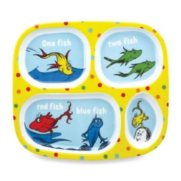 Bumkins® Dr. Seuss One Fish Two Fish Melamine Plate