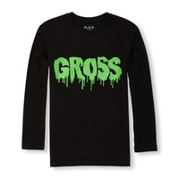Boys Long Sleeve 'Gross' Slime Graphic Tee | The Children's Place