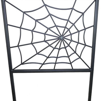 Spider Web Bed Headboard by ChromeDomeDesignShop on Etsy