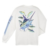 Guy Harvey Men's Marlin Yellowfin Long Sleeve T-Shirt