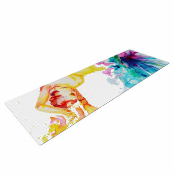 "Cecibd ""Espana I"" Multicolor People Yoga Mat"