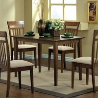 Walnut 5Pcs Dining Set
