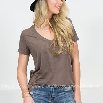 Suede Pocket Top | Colors