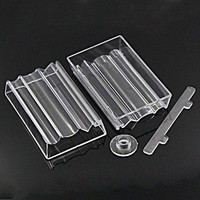 2pcs.Bead Roller For Jewelry Making Perfect Polymer Clay Beads Rectangle Transparent