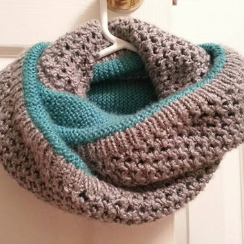 Infinity Scarf - Knitted Infinity Scarf - Double-Layered, Double-Loop infinity Scarf - Handmade Scarf