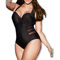 Beach Ready One Piece Swimsuit With Accents Plus Size