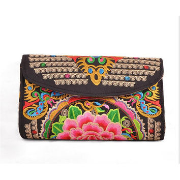 Yunnan National Style Woman's Emboridery Evening Banquet Bag Handbag Chinese Style Banquet Bag   zamioculcas zamiifolia butterfly