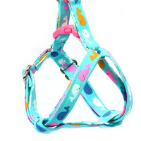 Step In Dog Harness - Colorful Whales on Blue - Mini Small Medium Large XL Dog Harness