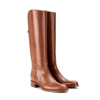 loro piana - wellington leather knee boots