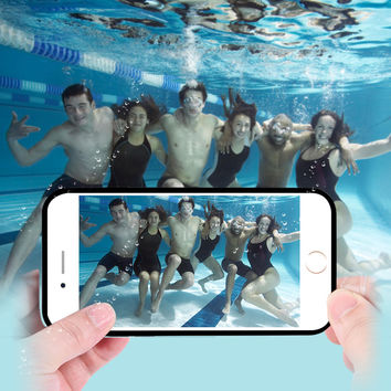 FLOVEME 5 5s SE Cool Summer TPU Waterproof Phone Cover for Apple iPhone 6 6s Plus Case Ultra Thin Diving Swimming Coque Fundas