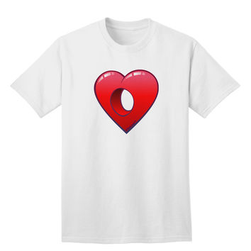 Hole Heartedly Broken Heart Adult T-Shirt