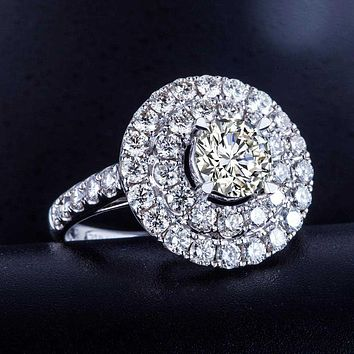 Luxury GIA Diamond Women Engagement Ring 1.51+2.272ct Natural Diamond Jewelry 18K White Gold or Platinum