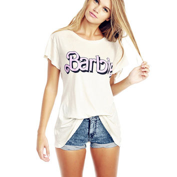 Barbie Print Short Sleeve Graphic Tee
