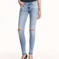Super Skinny Low Ripped Jeans - from H&M