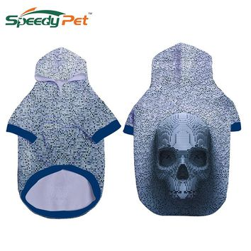 3D Funny Skull Header Printed Dog Winter clothes Pet Hip-hop Rock style Sweatershirts Hoodies Spring Warm Dog Outdoor Suits