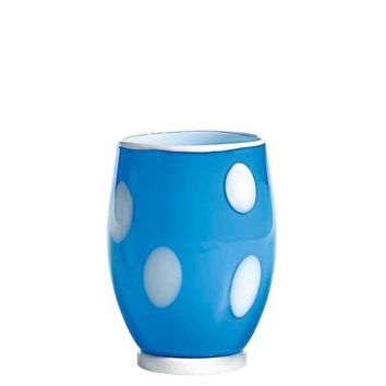 Bon Bon Tumblers S/2 | Light Blue and White