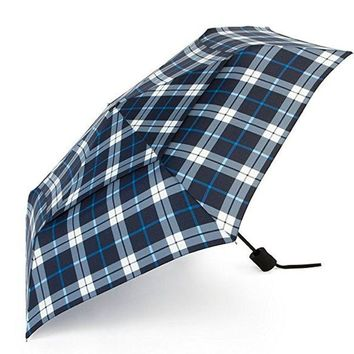 ONETOW ShedRain Windpro Auto Open & Close Umbrella Jan Blue Plaid