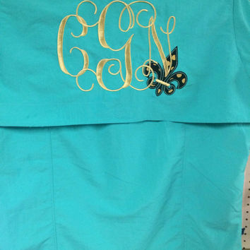 Monogram Magellan fishing shirt with applique
