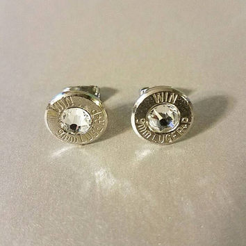 Bullet jewelry, bullet earrings, 9mm bullet earrings, Winchester bullet jewelry