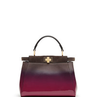 Fendi Peekaboo Mini Satchel Bag, Magenta