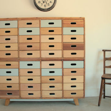Beautifully hand crafted 40 drawer sideboards made using reclaimed wood gorgeous storage solution