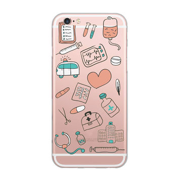 Doctor Nurse Heart Beat Phone Case Coque for iPhone 6 7 5S 6plus fbb1c8ff1889