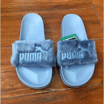 puma rihanna fenty leadcat fur slipper shoes