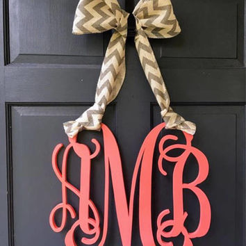 Personalized Monogram Door Hanger - Hanging Monogram Initials - Door Sign - Wall Decor - Graduation Gift - Dorm Decor - Wedding Gift