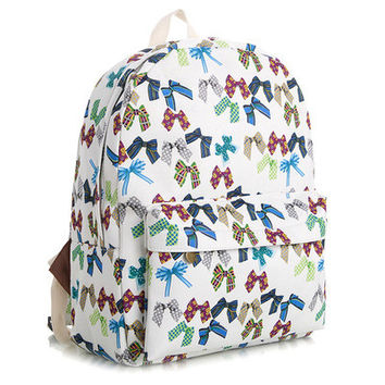 Korean Lovely Cute Canvas Backpack = 4888031172