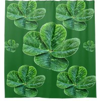 Lucky 4 leaf clover shower curtain