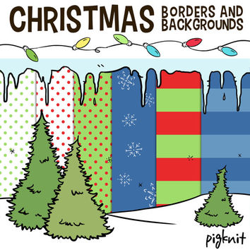 Christmas Borders Clip Art,  Holiday School Clip Art, Christmas Lights, Winter Classroom, XMAS downloads, Christmas Clip Art, Icicles