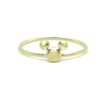 9ct Solid Gold Micky Mouse Nugget Band-Stacking Ring-Handmade-Wedding Ring-Prom-Celebration Ring