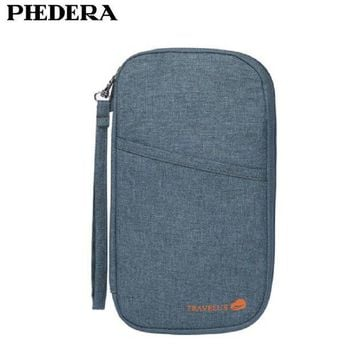 VONG2W High Quality Multifunctional Travel Accessories Passport Bags Travel Document Organizer  Large Capacity Oxford Passport Wallet