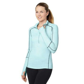 VONEG5D lucy Fast As Lightning Half Zip Top - Women's XS - Icicle Heather