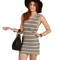 Sale-taupe Play It Cool Sweater Dress