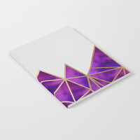 Purple & Gold Geometric Notebook by Tanyadraws
