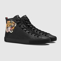 shosouvenir  GUCCI fashion casual shoes snake Black