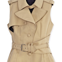 Sleeveless Trench Top by Bouchra Jarrar - Moda Operandi