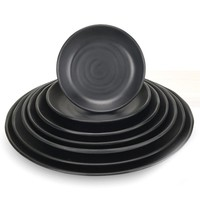 Japanese Style Round Shaped Plate Dish Sushi Snack Plate Pastry Salad Tray Household Kitchen Tableware Utensils 7 Sizes