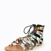 Shoe Republic LA Gulliver City Print Sandals