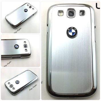BMW Samsung Galaxy S3 Case BMW Series Sport Car Premium Hard Cover for S3 / i9300 - Silver