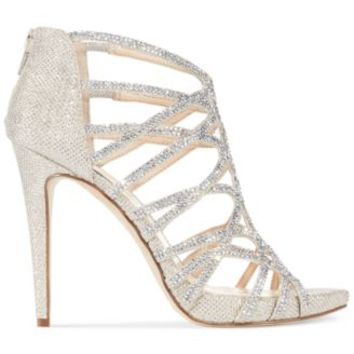 INC International Concepts Women's Sharee High Heel Rhinestone Evening Sandals | macys.com