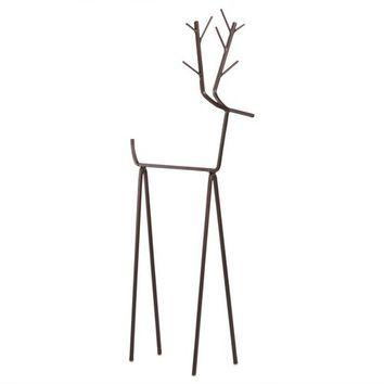 Reindeer Guest Towel Holder, Metal Christmas Decorative Towel Rack