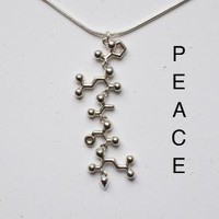 PEACE necklace spelled in amino acids the code by molecularmuse