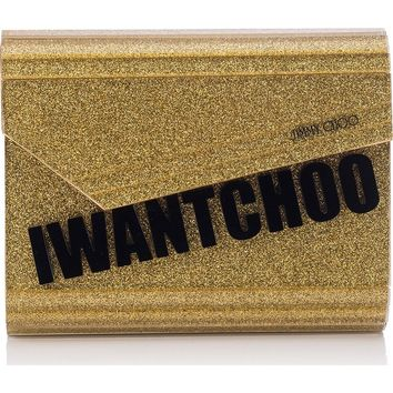 Jimmy Choo Candy I Want Choo Glitter Clutch | Nordstrom