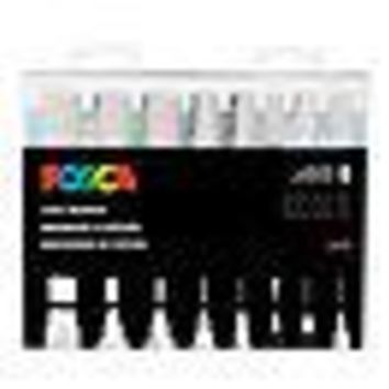 POSCA Acrylic Paint Marker Set - 8 Marker All White Set