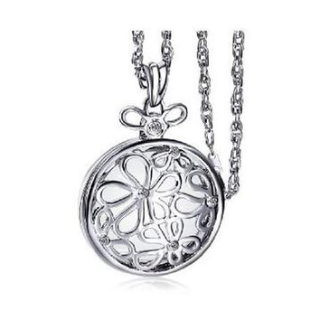 Flower Necklace Pendant Reading Glass 2x Magnifying