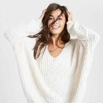 Carrie Popcorn Textured Sweater - Natural