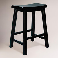 Antique Black Schoolhouse Counter Stool - World Market