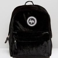 Hype | Hype Exclusive Black Velvet Backpack at ASOS